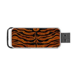 Skin2 Black Marble & Brown Marble (r) Portable Usb Flash (two Sides) by trendistuff