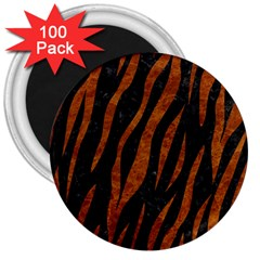 Skin3 Black Marble & Brown Marble 3  Magnet (100 Pack) by trendistuff