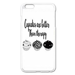 Cupcakes  Apple Iphone 6 Plus/6s Plus Enamel White Case by Brittlevirginclothing