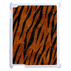 Skin3 Black Marble & Brown Marble (r) Apple Ipad 2 Case (white) by trendistuff