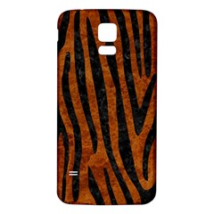 Skin4 Black Marble & Brown Marble Samsung Galaxy S5 Back Case (white) by trendistuff