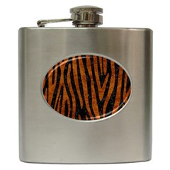 Skin4 Black Marble & Brown Marble (r) Hip Flask (6 Oz) by trendistuff