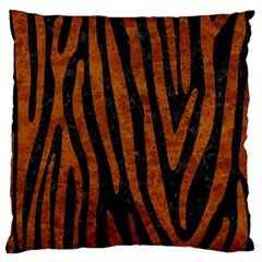 Skin4 Black Marble & Brown Marble (r) Large Cushion Case (one Side) by trendistuff