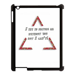 You Without Me  Apple Ipad 3/4 Case (black) by Brittlevirginclothing