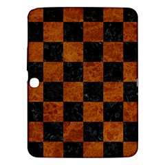 Square1 Black Marble & Brown Marble Samsung Galaxy Tab 3 (10 1 ) P5200 Hardshell Case  by trendistuff