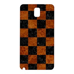 Square1 Black Marble & Brown Marble Samsung Galaxy Note 3 N9005 Hardshell Back Case by trendistuff
