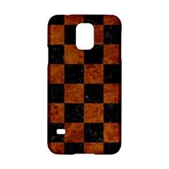 Square1 Black Marble & Brown Marble Samsung Galaxy S5 Hardshell Case  by trendistuff