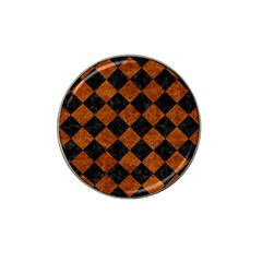 Square2 Black Marble & Brown Marble Hat Clip Ball Marker (10 Pack) by trendistuff