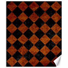 Square2 Black Marble & Brown Marble Canvas 20  X 24  by trendistuff