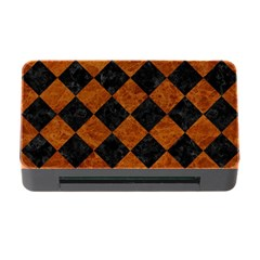 Square2 Black Marble & Brown Marble Memory Card Reader With Cf by trendistuff