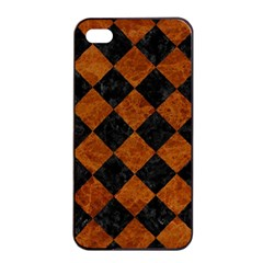 Square2 Black Marble & Brown Marble Apple Iphone 4/4s Seamless Case (black) by trendistuff