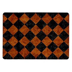 Square2 Black Marble & Brown Marble Samsung Galaxy Tab 10 1  P7500 Flip Case by trendistuff