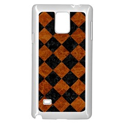 Square2 Black Marble & Brown Marble Samsung Galaxy Note 4 Case (white) by trendistuff