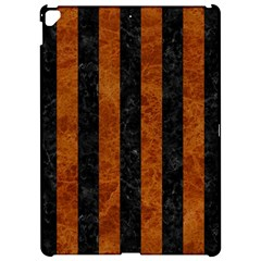 Stripes1 Black Marble & Brown Marble Apple Ipad Pro 12 9   Hardshell Case by trendistuff