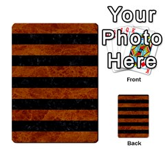Stripes2 Black Marble & Brown Marble Multi Purpose Cards (rectangle) by trendistuff