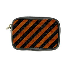 Stripes3 Black Marble & Brown Marble Coin Purse by trendistuff
