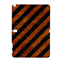 Stripes3 Black Marble & Brown Marble Samsung Galaxy Note 10 1 (p600) Hardshell Case by trendistuff