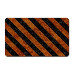Stripes3 Black Marble & Brown Marble (r) Magnet (rectangular) by trendistuff