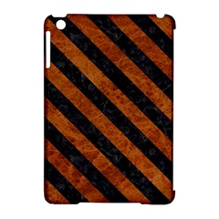 Stripes3 Black Marble & Brown Marble (r) Apple Ipad Mini Hardshell Case (compatible With Smart Cover) by trendistuff