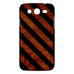 Stripes3 Black Marble & Brown Marble (r) Samsung Galaxy Mega 5 8 I9152 Hardshell Case  by trendistuff