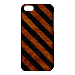 Stripes3 Black Marble & Brown Marble (r) Apple Iphone 5c Hardshell Case