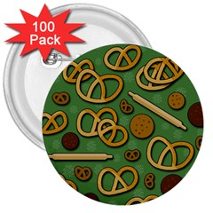 Bakery 4 3  Buttons (100 Pack)