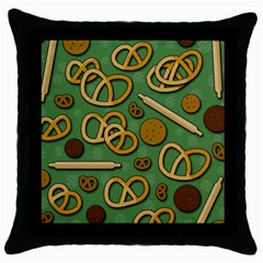 Bakery 4 Throw Pillow Case (black) by Valentinaart