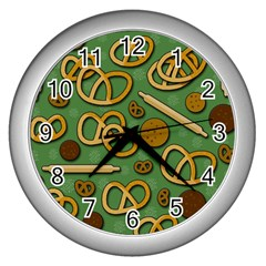 Bakery 4 Wall Clocks (silver)  by Valentinaart