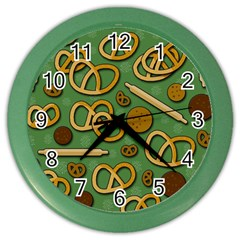 Bakery 4 Color Wall Clocks by Valentinaart