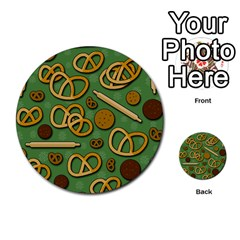 Bakery 4 Multi Purpose Cards (round)  by Valentinaart