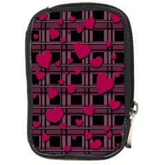 Harts Pattern Compact Camera Cases by Valentinaart