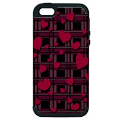 Harts Pattern Apple Iphone 5 Hardshell Case (pc+silicone) by Valentinaart