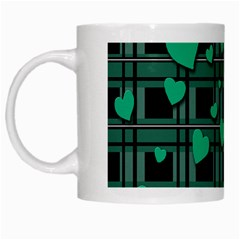 Green Love White Mugs by Valentinaart