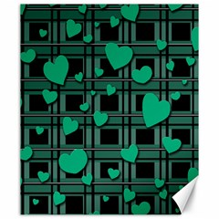 Green Love Canvas 20  X 24   by Valentinaart