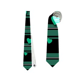 Green Love Neckties (one Side)  by Valentinaart