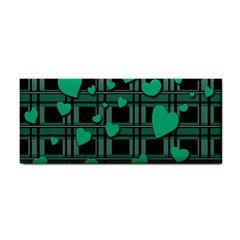 Green Love Cosmetic Storage Cases by Valentinaart