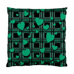 Green Love Standard Cushion Case (two Sides) by Valentinaart