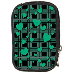 Green Love Compact Camera Cases by Valentinaart
