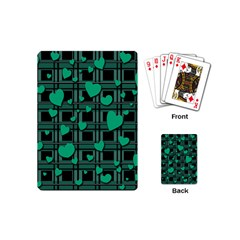 Green Love Playing Cards (mini)  by Valentinaart