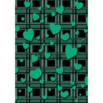 Green love YOU ARE INVITED 3D Greeting Card (7x5) Inside