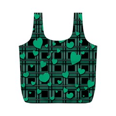 Green Love Full Print Recycle Bags (m)  by Valentinaart