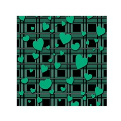 Green Love Small Satin Scarf (square) by Valentinaart
