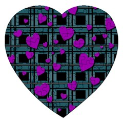 Purple Love Jigsaw Puzzle (heart) by Valentinaart
