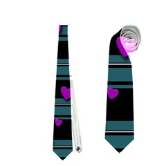Purple Love Neckties (one Side)  by Valentinaart