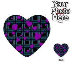 Purple Love Multi Purpose Cards (heart)  by Valentinaart