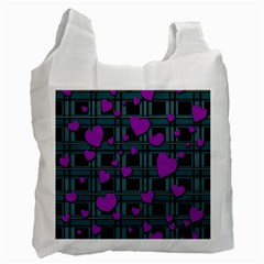 Purple Love Recycle Bag (two Side)  by Valentinaart