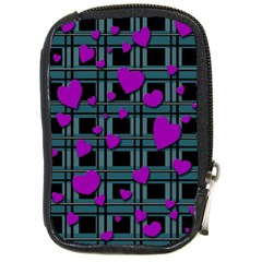 Purple Love Compact Camera Cases by Valentinaart