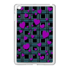 Purple Love Apple Ipad Mini Case (white) by Valentinaart