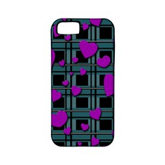 Purple Love Apple Iphone 5 Classic Hardshell Case (pc+silicone) by Valentinaart