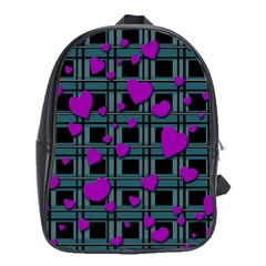 Purple Love School Bags (xl)  by Valentinaart